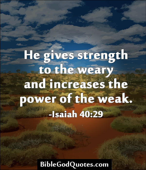 Bible quotes about strength
