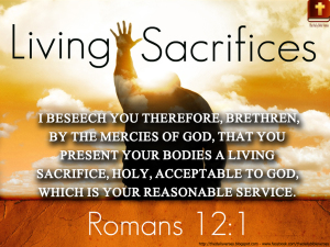 Romans 12:1 Your Body Matters
