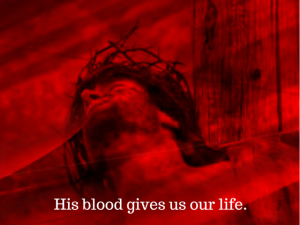 the blood of Jesus washes away our guilt and shame.