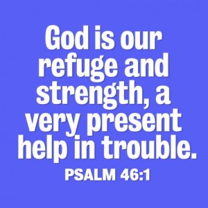 God gives peace and strength during stress