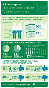 Infographic about Stress in America Report