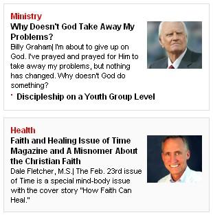 Christian Post Health Columnist and Blogger 3 16 09